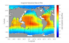 New World Order Map by Research Maps Areas Most Vulnerable To Ocean Acidification