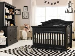 Black Convertible Cribs Baby Nursery With Black Convertible Crib And Stripes Area Rug