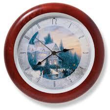 the kinkade carol clock hammacher schlemmer