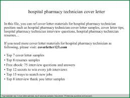 10 pharmacy technician cover letter applicationsformat info