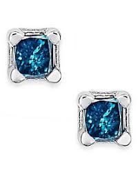 blue diamond stud earrings blue diamond earrings shop for and buy blue diamond earrings