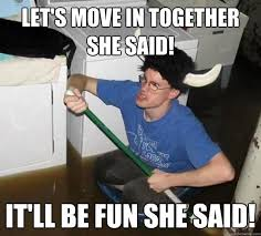 Moving In Together Meme - 35 things people wish they knew before moving in with a