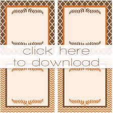 thanksgiving printable place cards free printable cards