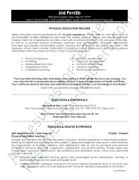 Teacher Skills Resume Examples Physical Education Resume Sample Page 1 Resume Examples