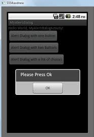 dialog android alert dialog with one button android desk