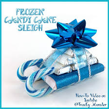frozen candy cane sleigh gift idea crafty morning