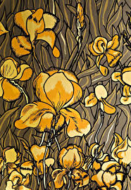 contemporary wallpaper polyester floral pattern hand printed