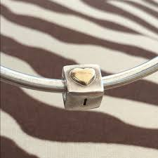engraved box 61 pandora jewelry i you engraved two tone heart box