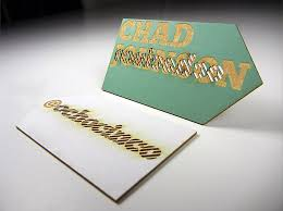 laser cut business cards cool laser cut business card chad johnson cardrabbit