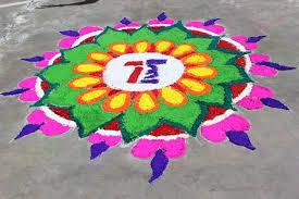tbc organised rangolis competition