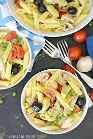 pasta salad marinated artichoke hearts pasta salad veggies save the day