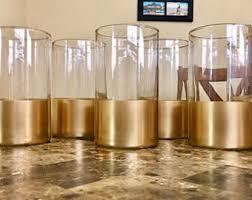 Gold Tall Vases Cylinder Vase Etsy