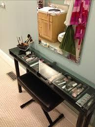 black makeup desk with drawers ikea makeup vanity tutorial lisa ritter home sweet home
