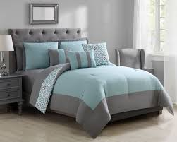Bed In A Bag Duvet Cover Sets by Piece Glenda Mint Gray Bed In A Bag Set