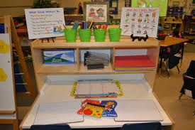 1st grade writing paper with picture box a kindergarten writing center in action scholastic