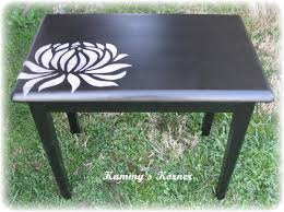 Upcycled Furniture Designs Diy by Diy Black White Painted Table Google Search Homey Stuff