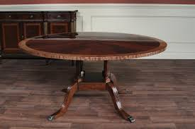 Round Flame Mahogany Dining Room Table By Hickory Chair Mount - 60 inch round dining tables wood