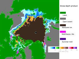 Ocean Depth Map Arctic Snow Depth On Sea Ice