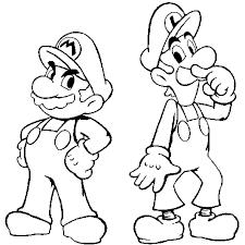 Coloriage Mario et luigi en Ligne Gratuit à imprimer