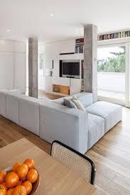 Wohnzimmer Italienisches Design Italienisches Penthouse Mit Blockförmigen Säulen