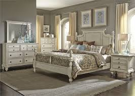 high country poster bed 6 bedroom set in white finish by