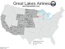 Alaska Air Map by Great Lakes Airlines World Airline News