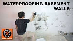 waterproofing basement walls with drylok paint by home repair