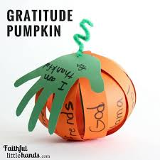 thanksgiving gratitude pumpkin paper craft with free template
