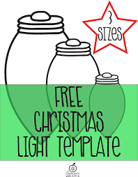 free printable christmas light garland craft for kids free