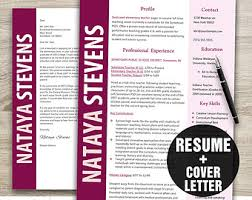Template Resume Download Instant Download Resume U0026 Letterhead Template The Will