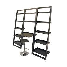 Leaning Ladder Shelf White White Wooden Leaning Ladder Shelf Computer Desk On Ceramics
