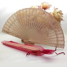 personalized folding fans 80pcs lot personalized fan favor wooden folding fan