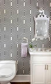 Striped Wallpaper Bathroom 50 Stylish Black And White Wallpaper Bathrooms Decoration Ideas