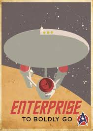 star trek enterprise retro poster based on a canadian pacific