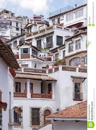 hillside houses in taxco stock photo image 89938256