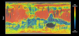 dust map esa science technology mars dust map