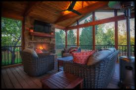 screened porch can you really have a tv on your screened porch what about fabric