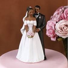 vintage african american cake topper wedding anniversary bride