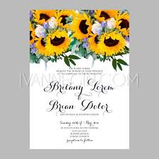 sunflower wedding invitations sunflower wedding invitation printable template with floral wreath