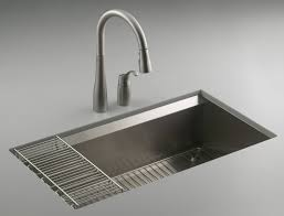 bathroom gray kohler sinks and kitchen faucet with double handle