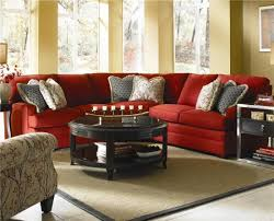 custom 3 pieces red sectional sofa by belfort furniture colorful