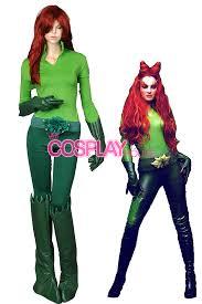 Halloween Poison Ivy Costume Batman Movie Cosplay Poison Ivy Cosplay Costumes Version 04