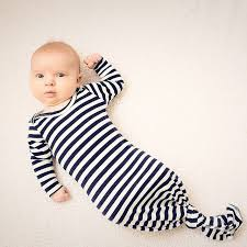 newest cute newborn baby sleep sack nightgown striped knotted