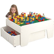 duplo preschool play table cp toys activity table with trundle drawer for preschool building