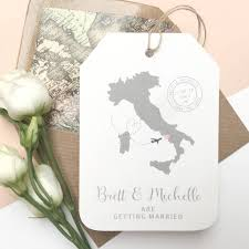 location wedding abroad save the date luggage tag by ditsy chic