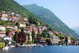 photo italy como mountains cities houses