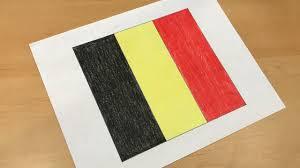 Belgian Flag Belgian Flag Drawing Youtube