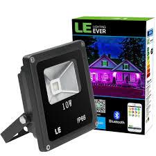 smart outdoor flood light smart bluetooth waterproof 10w rgb led flood light dimmable le
