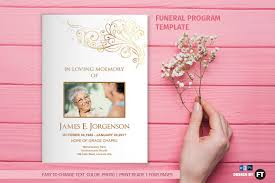 Funeral Program Designs Funeral Program Template Flower Brochure Templates Creative