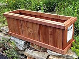 Cheap Planter Boxes by Amazon Com Set Of 2 Pennington Solid Wood Cedar Outdoor Planter